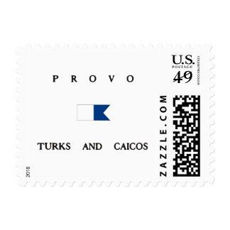 Turcos de Provo y bandera alfa de la zambullida de Sellos