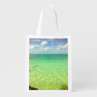 Turcos del océano el | de la aguamarina y foto bolsa de la compra