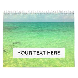 Turcos del océano el   de la aguamarina y foto calendarios