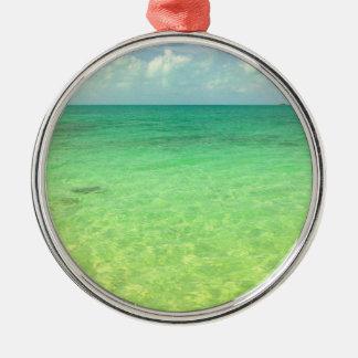 Turcos del océano el | de la aguamarina y foto ornamento para arbol de navidad