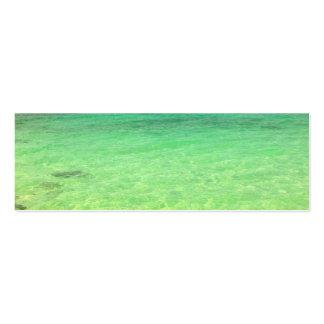 Turcos del océano el   de la aguamarina y foto tarjetas de visita