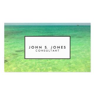 Turcos del océano el   de la aguamarina y foto plantilla de tarjeta de visita
