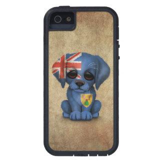 Turcos lindos y perro de perrito patrióticos de iPhone 5 Case-Mate cobertura