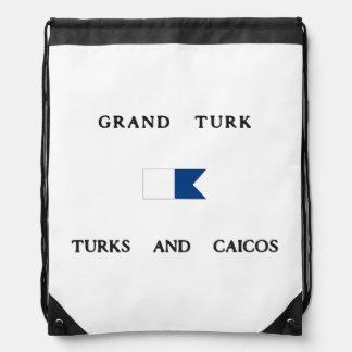 Turcos magníficos del turco y bandera alfa de la mochilas
