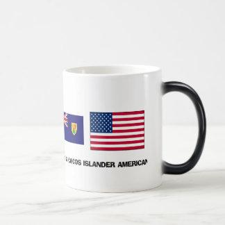 Turcos y americano del isleño de Caicos Tazas De Café