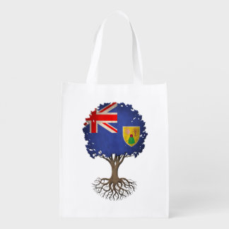 Turcos y árbol de la bandera de Caicos del Bolsas Para La Compra