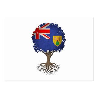 Turcos y árbol de la bandera de Caicos del Tarjeta Personal