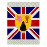 Turcos y bandera de alta calidad de Caicos Tarjetas Postales