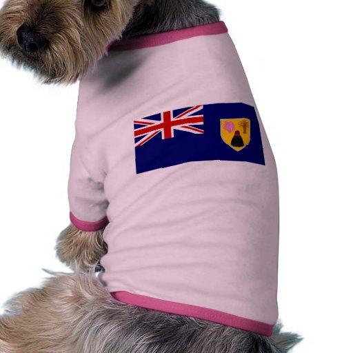 Turcos y bandera de Caicos Camiseta Con Mangas Para Perro
