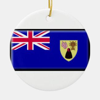Turcos y bandera de Caicos Ornato