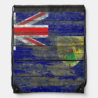 Turcos y bandera de Caicos en efecto áspero de los Mochila