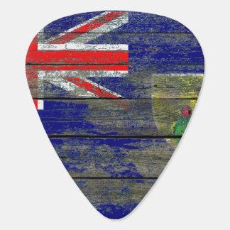 Turcos y bandera de Caicos en efecto áspero de los Plumilla De Guitarra
