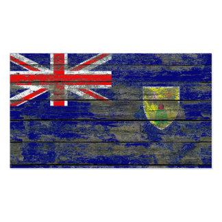 Turcos y bandera de Caicos en efecto áspero de los Tarjeta De Visita