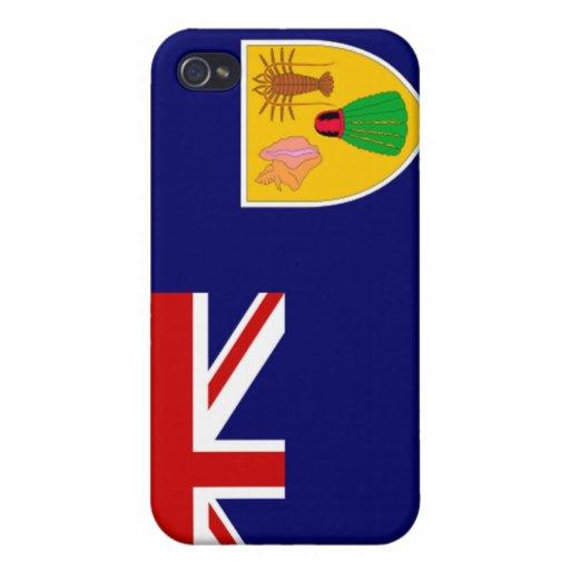 Turcos y bandera de Caicos iPhone 4 Coberturas