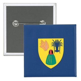 Turcos y bandera de Caicos Pin Cuadrado