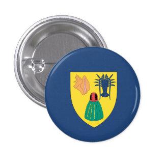 Turcos y bandera de Caicos Pin Redondo De 1 Pulgada