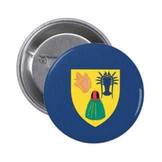 Turcos y bandera de Caicos Pin Redondo De 2 Pulgadas