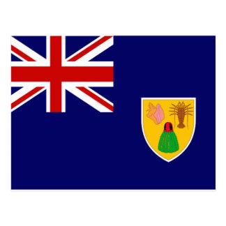 Turcos y bandera de Caicos Postal