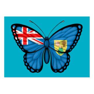 Turcos y bandera de la mariposa de Caicos Tarjeta De Visita