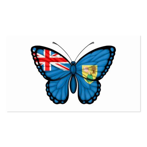 Turcos y bandera de la mariposa de Caicos Plantilla De Tarjeta De Visita