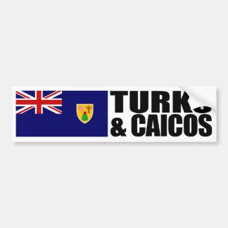 Turcos y bandera de las islas de Caicos Pegatina Para Auto