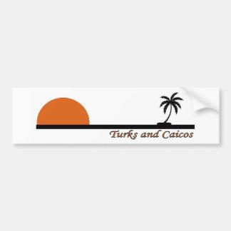 Turcos y Caicos Etiqueta De Parachoque