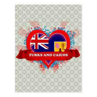 Turcos y Caicos del amor del vintage I Postal