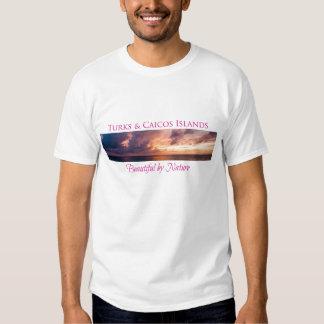 Turcos y Caicos hermosos por la camiseta de la Playeras