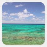 Turcos y Caicos, isla magnífica del turco, Calcomanías Cuadradass Personalizadas