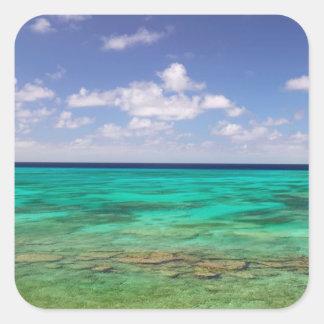 Turcos y Caicos, isla magnífica del turco, Pegatina Cuadrada
