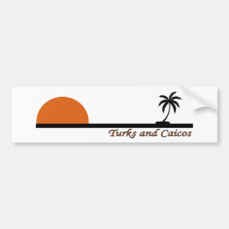Turcos y Caicos Pegatina Para Auto