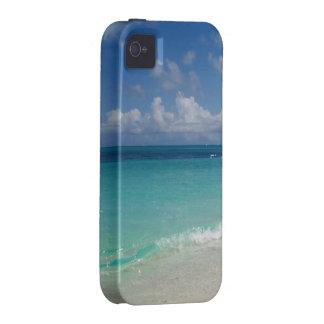 Turcos y caso del iPhone 4 de la playa de Caicos Case-Mate iPhone 4 Carcasas