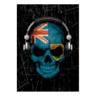 Turcos y cráneo rasguñados de Caicos DJ Tarjeta De Negocio