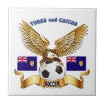 Turcos y diseños del fútbol de Caicos Azulejos