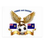 Turcos y diseños del fútbol de Caicos Postal