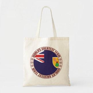 Turcos y el equipo más grande de las islas de bolsa tela barata