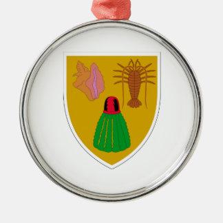 Turcos y escudo de armas de Caicos Ornaments Para Arbol De Navidad