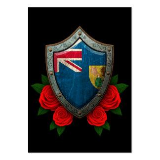 Turcos y escudo gastados de la bandera de Caicos c Tarjetas De Visita