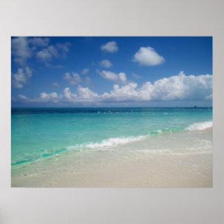 Turcos y impresión de la lona de la playa de Caico Poster