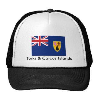 turcos y islas de caicos gorro de camionero