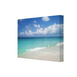 Turcos y lona envuelta playa de Caicos Impresión En Lienzo