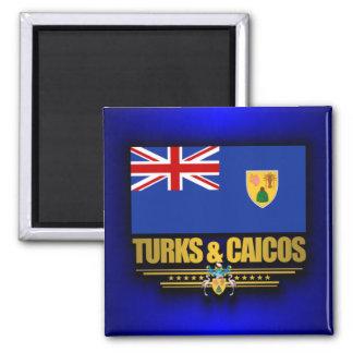 Turcos y orgullo de Caicos Imán Cuadrado