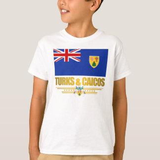 Turcos y ropa del orgullo de Caicos Playera