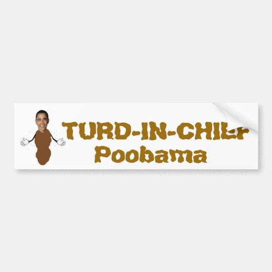 TURD-IN-CHIEF, Poobama Bumper Sticker