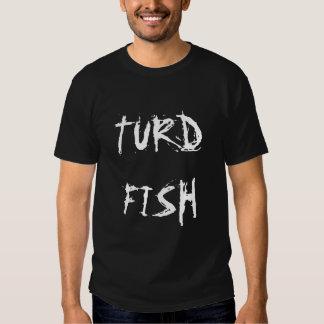 TurdFish rasguñó la camiseta de las letras Playeras