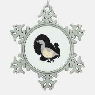 Turducken Adorno De Peltre En Forma De Copo De Nieve