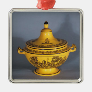 Tureen with black print design, c.1820 ornament