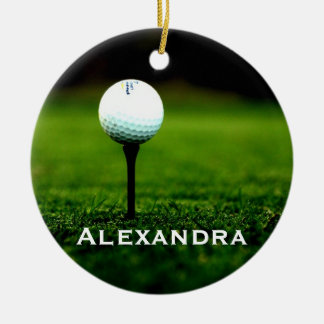 Turf and Golf Ball Personalized Ornament