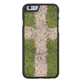 Turf cross carved maple iPhone 6 case