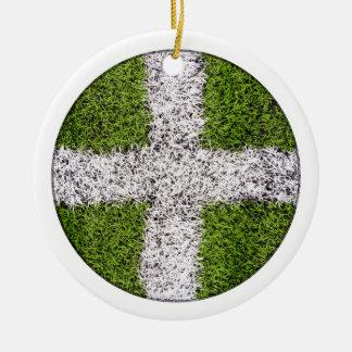 Turf cross ornaments